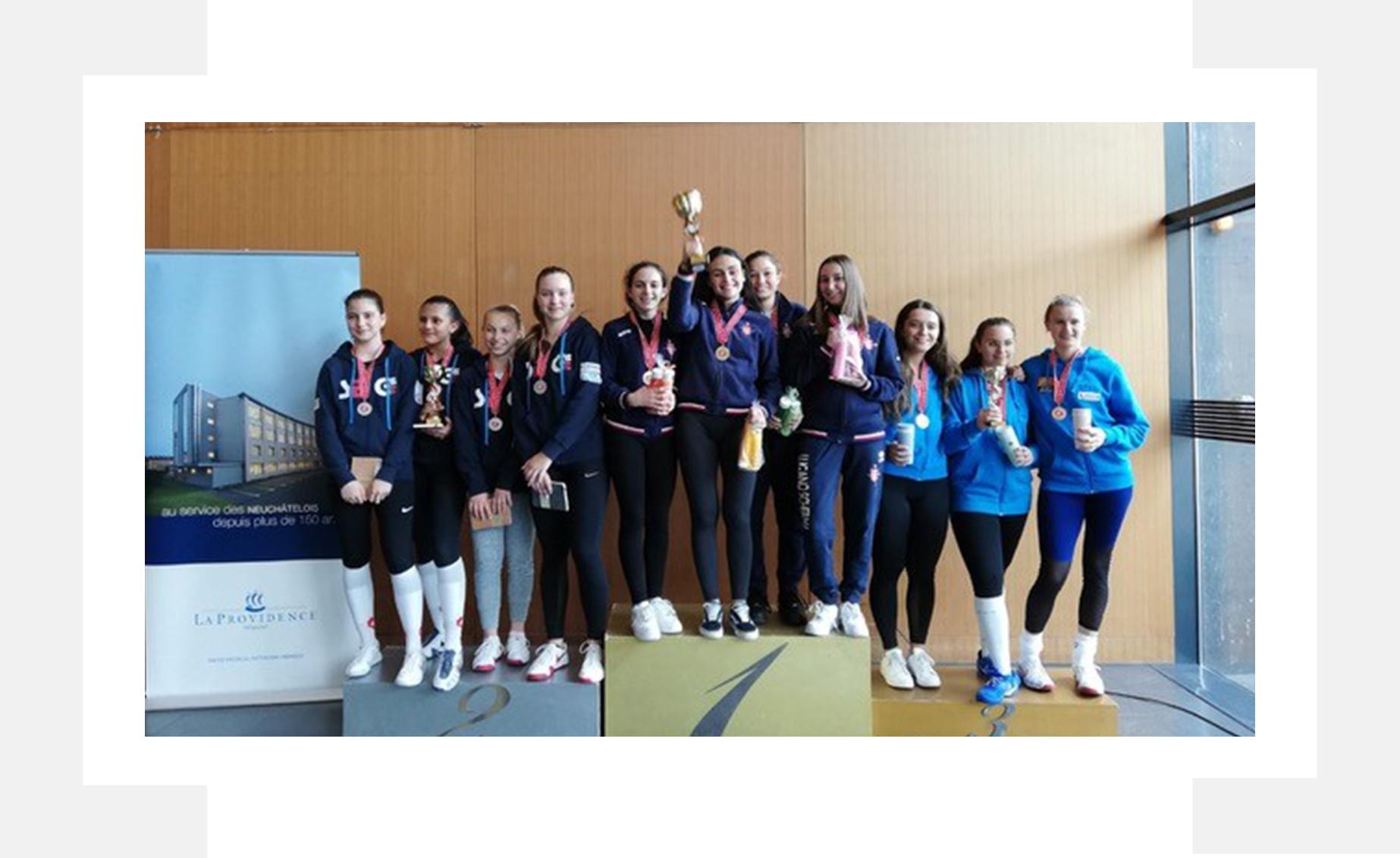 Le ragazze di Lugano Scherma campionesse svizzere Under 17